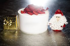 Santa Claus or Father Frost with gift boxes or presents Royalty Free Stock Image