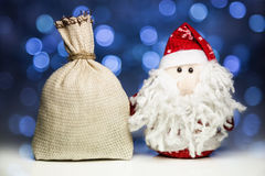 Santa Claus or Father Frost and sack Stock Photo