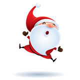 Santa Claus feeling excited. Jumping Stock Photos