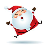 Santa Claus feeling excited. Vector illustration of snowman on white background Royalty Free Stock Image