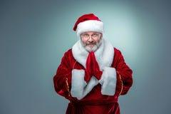 Santa Claus felice e sorridente fotografie stock