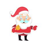 Santa Claus with a festive bell Royalty Free Stock Photos