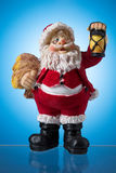 Santa claus figure, mysticism Christmas. Santa claus figure on blue spots, mysticism Christmas Royalty Free Stock Images