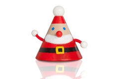 Santa claus figure on white. Christmas Stock Image