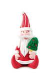 Santa Claus figurine. White isolated Royalty Free Stock Images