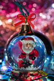 Santa Claus figurine. In a New Year's/Christmas atmosphere Stock Photography