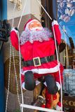 Santa Claus figurine at greek Christmas market in Drama, Greece Stock Image