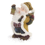 Santa Claus figurine isolated Stock Images