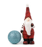 Santa Claus figurine isolated over white background!! Royalty Free Stock Images