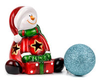 Santa Claus figurine isolated over white background. Stock Images