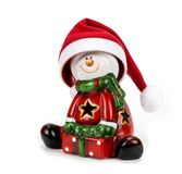 Santa Claus figurine  over white background Royalty Free Stock Image