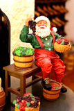 Santa Claus figurine in a wine cellar Royalty Free Stock Image