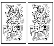 Santa Claus - Find the ten differences. Find the ten differences - Santa Claus Stock Photos