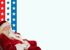 Santa claus with finger on lip Stock Image