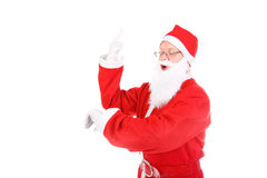 Santa claus with finger up Royalty Free Stock Photos