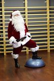Santa Claus in Fitness Studio Royalty Free Stock Photos