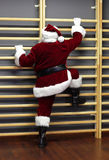 Santa claus - fitness training Royalty Free Stock Photos