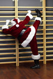 Santa claus - fitness training Stock Image