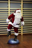 Santa Claus fitness training Stock Photo