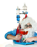 Santa Claus with flasks Royalty Free Stock Photography