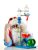 Santa Claus with flasks Stock Image