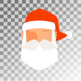 Santa Claus flat icon avatar vector illustration. Santa Claus flat icon vector illustration. Santa Claus cartoot red hat silhouette. Santa Claus isolated on Royalty Free Stock Photo
