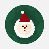 Santa Claus flat icon with long shadow Royalty Free Stock Images