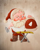 Santa Claus with flatiron Royalty Free Stock Photo
