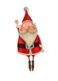 Santa Claus fliegt Stockbild