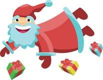 Santa Claus fliegt Lizenzfreie Stockfotos