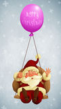 Santa Claus fly With a Balloon Royalty Free Stock Photo