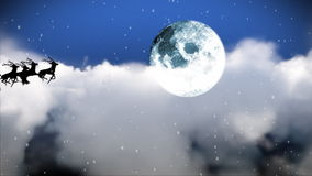 Santa Claus Flying ändå himlen stock illustrationer