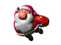 Santa Claus flying royalty free illustration