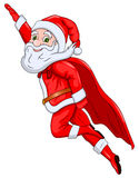 Santa Claus Flying in the Air Stock Images