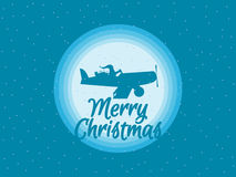Santa Claus is flying in an airplane with gifts. Vector. Illustration vector illustration