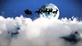 Santa Claus Flying embora o céu