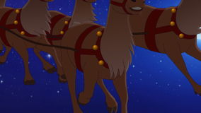 Santa Claus flying stock video footage