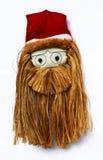 Santa Claus font face avec la barbe de chanvre Photo libre de droits