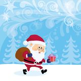 Santa Claus in forest Royalty Free Stock Photo