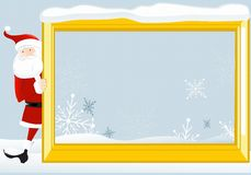 Santa Claus with frame 2 Royalty Free Stock Photo