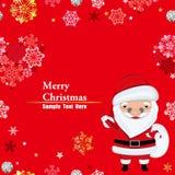 Santa claus frame Stock Photo