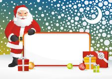 Santa Claus Frame Royalty Free Stock Photos