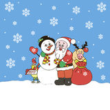 Santa Claus And Friends Stockbild