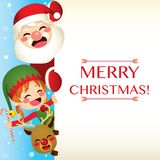 Santa Claus And Friends Banner vector illustration