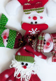 Santa Claus and friends. Funny composition. For kids Royalty Free Stock Photography