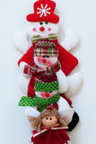 Santa Claus and friends. Funny composition. Stock Photos