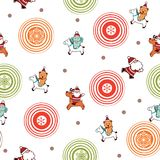 Santa Claus and Friends Pattern Royalty Free Stock Photography