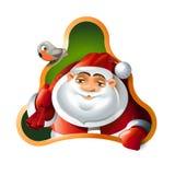 Santa Claus. Frohe Weihnachten und guten Rutsch ins Neue Jahr Stockbild