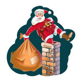 Santa Claus. With a full bag of gifts Stock Image