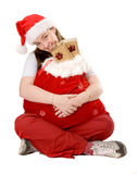 Santa claus full of gifts Royalty Free Stock Photos